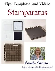 I posted an entry a while back on the STAMPARATUS. It is such an innovative tool, I kept finding the need to add to the post. Sooooo the S. Card Making Tips, Card Making Tutorials, Card Making Techniques, Making Tools, Embossing Techniques, Stamping Tools, Rubber Stamping, Homemade Christmas Cards, Handmade Christmas
