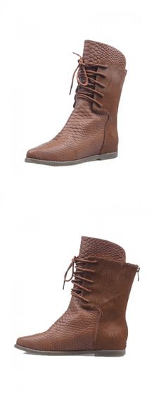 I WANT! So cute! Lace up boots. Chic look without the bulk of boot socks. Love!