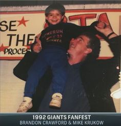Image result for photo of brandon crawford and mike krukow