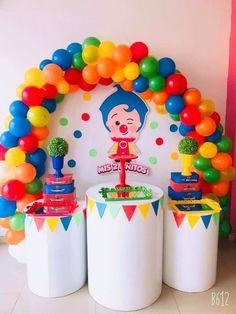 Baby Boy 1st Birthday Party, Birthday Themes For Boys, 1st Birthday Cakes, Carnival Birthday Parties, Baby Party, Birthday Party Decorations, Garfield Birthday, Party In A Box, First Birthdays