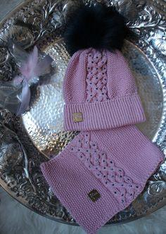 Kindermütze und Schal ICEPRINCESS rosa 50/52 cm