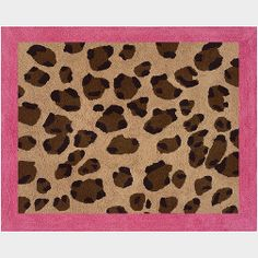 "Use this gorgeous cheetah pink rug to make a room ""pop""! Designed with a non-skid backing, this exciting hot pink and leopard print rug will make an exhilarating addition to any room of the house. Its hot pink border makes this fun animal print really stand out. Make your room ""roar"" with this beautiful rug! Dimensions: 36 in. X 30 in. 100% Cotton Yarn. Hand Tufted. Spot Clean As Needed. Non Skid Backing. #timelesstreasure"