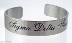 "Sigma Delta Tau 6"" or 7"" Braggin' Bracelet available in Good Things From Louisiana, an ebay store."