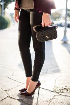 Pair your J BRAND Photo Ready Denim with the perfect pump, and #Chanel bag.
