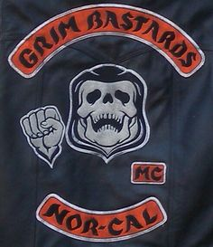 GRIM BASTARDS SONS OF ANARCHY MOTORCYCLE HOODIE