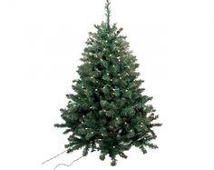 Gran abeto de Navidad con 300 luces incorporadas, perfecto para que los Reyes Magos o Papá Nöel lo llenen de regalos.