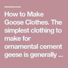 Goose Clothes, Simple Outfits, Cement, Arms, Wings, Skirt, Creative, Clothing, How To Make