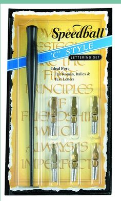 Amazon.com: Speedball Calligraphy C-Style Lettering Set: Home And Garden Products: Artwork