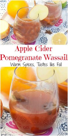 This is perfect for a Holiday Party! Healthy Slow Cooker Apple Cider Pomegranate Wassail Recipe #SplendaSweeties #SweetSwaps #ad