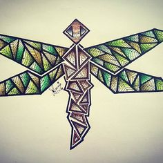 Awesome abstract dragonfly drawing by @aurorah89 using their Chameleon Pens! #dragonfly #abstract #geometric #drawing #art #artwork #colour #color #colouring #coloring #pen #marker #alcoholmarkers #chameleonpens