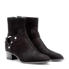 Saint Laurent - Rock suede ankle boots #shoes #covetme #saintlaurent