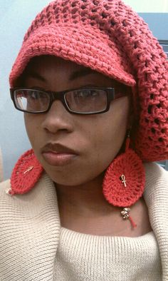 This is Haute!!! Crochet  Red Slouch hat Slouchy Beret Slouchy by ScarFanatic, $44.00