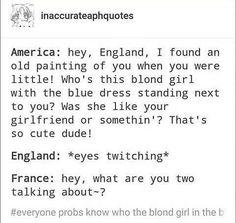 OMG, FRANCE WAS THE LITTLE BLONDE GIRL LIKE BUT IS ACTUALLY A BOY!!!!!!  OMGEEEEEEEEEE!!!!!!!!!!!!!
