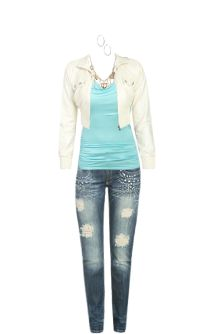 WetSeal.com Runway Outfit:  Hello Good bye by Flexin. Outfit Price $122.50