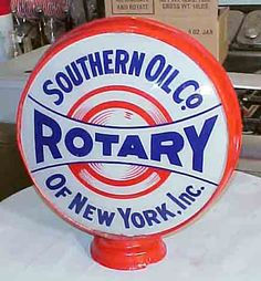 Rotary - Southern Oil Co. of New York Inc. gas pump globe (1920s)