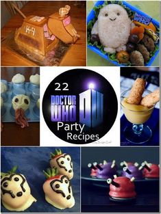 22 Doctor Who Party Recipes | Lazy Budget Chef  (This is a roundup of cute Doctor Who food and drink ideas from around the Web--some might not be so lazy- or budget-friendly, but they look like fun!  Except the canned haggis--bleck.)