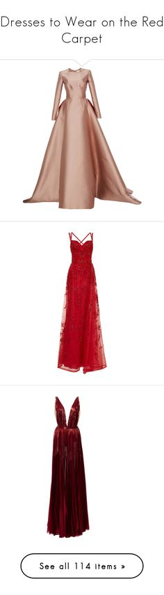"""""""Dresses to Wear on the Red Carpet"""" by infantilejoy ❤ liked on Polyvore featuring dresses, gowns, reem acra, elie saab, long dresses, red, elie saab evening dresses, elie saab dresses, long embellished dress and red dresses"""