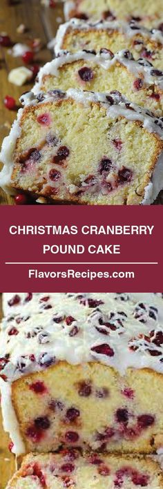 Christmas Cranberry Pound Cake #christmascakes