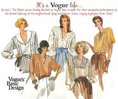 Uncut Vintage Vogue Blouse Sewing Pattern    by KeepsakesStudio