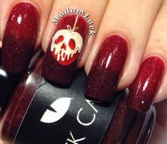 "Top 17 ""Fashionable"" Halloween Nails – List New & Easy Home Manicure Design - Bored Fast Food Disney Nail Designs, Halloween Nail Designs, Halloween Nail Art, Nail Art Designs, Nails Design, How To Do Nails, Fun Nails, Snow White Nails, Skull Nails"