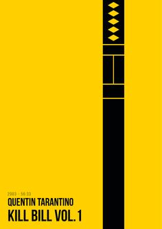 Kill Bill Vol. 1 by Creator Renato Sabato Movie Posters For Sale, Minimal Movie Posters, Minimal Poster, Movie Poster Art, Kill Bill Movie, Minimalist Poster Design, Rangoli Designs Flower, Alternative Movie Posters, Posca