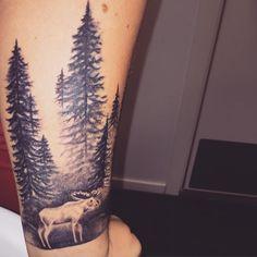 Blir ikke dette bra , - med sol og noen sommerfugler vet ikke jeg #tattoo #norsk #norway #delbarriotattoo #tattoos #inkedgirls #inked #foresttattoo #forest #moose #moosetattoo #armtattoo #armtattoos #threetattoos