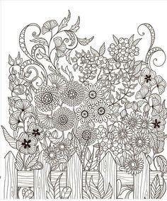 Flower Garden Picket Fence