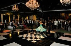 The Oval Garden transformed into a ballroom for the Great Gatsby Gala, 2012