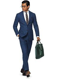 Suit Blue Plain Havana P4765   Suitsupply Online Store