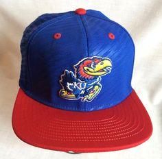 a32cf7530c0 Adidas Jayhawks University of Kansas Cap Hat Custom KU Logo Under Visor  Snapback