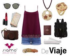 """Os proponemos un look """"comfy"""" para viajar este verano: Shorts, zapatillas, una mochila bien grande y cómoda y las joyas de nuestra colección Vaitiare (Que están al 30% hasta el 31 de Julio!) #tendencias #verano"""