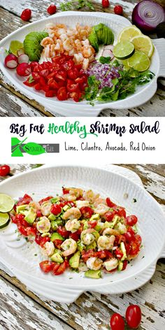 4 Points About Vintage And Standard Elizabethan Cooking Recipes! Best Shrimp Avocado Salad Recipe From Spinach Tiger Shrimp Avocado Salad, Avocado Salad Recipes, Avocado Salat, Tomato Salad, Shrimp Recipes, Soup Recipes, Detox, How To Cook Shrimp, Low Carb Recipes
