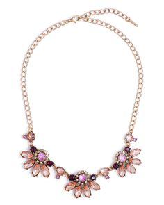 Amber Floral Necklace - JewelMint