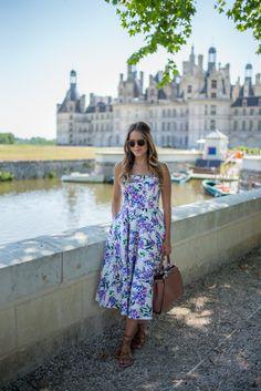 7.15 chateau de chambord (Maggy London dress + K. Jacques lace up gladiator sandals + Fendi bag + Illesteva sunnies)