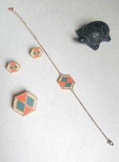 Bracelet AURORE, perles japonaises Delica Miyuki