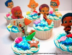 Bubble Guppies Cake Ideas | cake toppers plus some pretty cool frosting work makes these Bubble ...