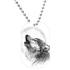 Black and White Howling Wolf Dog Tag Necklace Body Candy $8.99 + $2.99 shipping You Save:	$21.00 (70%) http://smile.amazon.com/dp/B005GLHXXK/ref=cm_sw_r_pi_dp_keV7tb11BKHN5