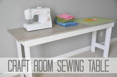 DIY Craft Room Table Sewing Table