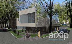 Картинная галерея с дополнительными функциями: архитектура, 3 эт | 9м, модернизм, музей, художественная галерея, 5000 м2 и более, каркас - ж/б, здание, строение #architecture #3floors_9m #modernism #museum #artgallery #5000m2иболее #frame_ironconcrete #highrisebuilding #structure arXip.com