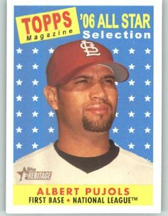 2007 Topps Heritage #476 Albert Pujols AS - St. Louis Cardinals (All Star) (Baseball Cards) by Topps Heritage. $2.38. 2007 Topps Heritage #476 Albert Pujols AS - St. Louis Cardinals (All Star) (Baseball Cards)