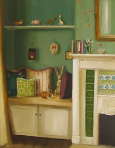 """Greer's Bedroom at Black Walnut Manor"" by Janet Hill"
