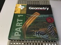 LOT OF 2 TEXAS SOUTHWESTERN GEOMETRY TEACHER ED, PARTS I, 2, INTEGRATED APPROACH #Textbook