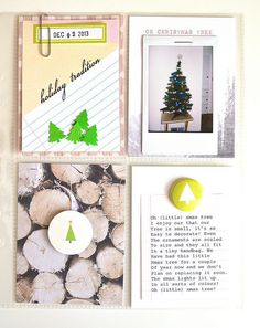 Picture 1 of dec daily - day - oh little xmas tree by Christmas Mini Albums, Christmas Minis, Christmas Art, Christmas Journal, Christmas Scrapbook, Project Life Scrapbook, Project Life Album, Ali Edwards, December Daily