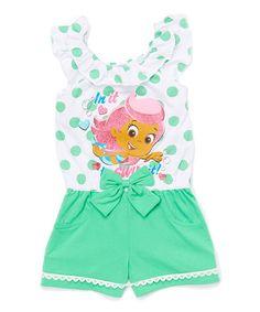 Look at this #zulilyfind! Green Bubble Guppies Romper - Toddler #zulilyfinds