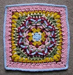 Wishful Thinking Afghan Block Motif By Justina Schneeweis - Free Crochet Pattern - (ravelry)