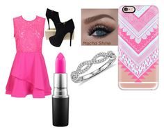 """""""be my valentine( ;"""" by abelina-ruiz-loves-fashion ❤ liked on Polyvore featuring Giuseppe Zanotti, MAC Cosmetics, Blue Nile, Casetify, women's clothing, women, female, woman, misses and juniors"""