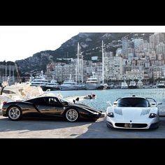 Ferrari Enzo and Maserati MC12