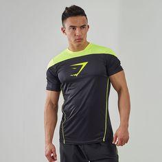 Gymshark Ascendant Training Top Black/Green