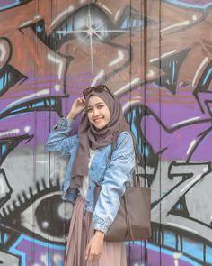 Ootd Hijab, Casual Style Hijab, Casual Hijab Outfit, Hijab Chic, Hijab Dress, Style Hijab Simple, Street Hijab Fashion, Muslim Fashion, Denim Fashion