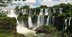 Called Foz do Iguaçu in Brazil and Cataratas del Iguazú in Argentina, Iguauz Falls is an isolated series of stunning waterfalls that tumbles along Brazil and Argentina's shared border.